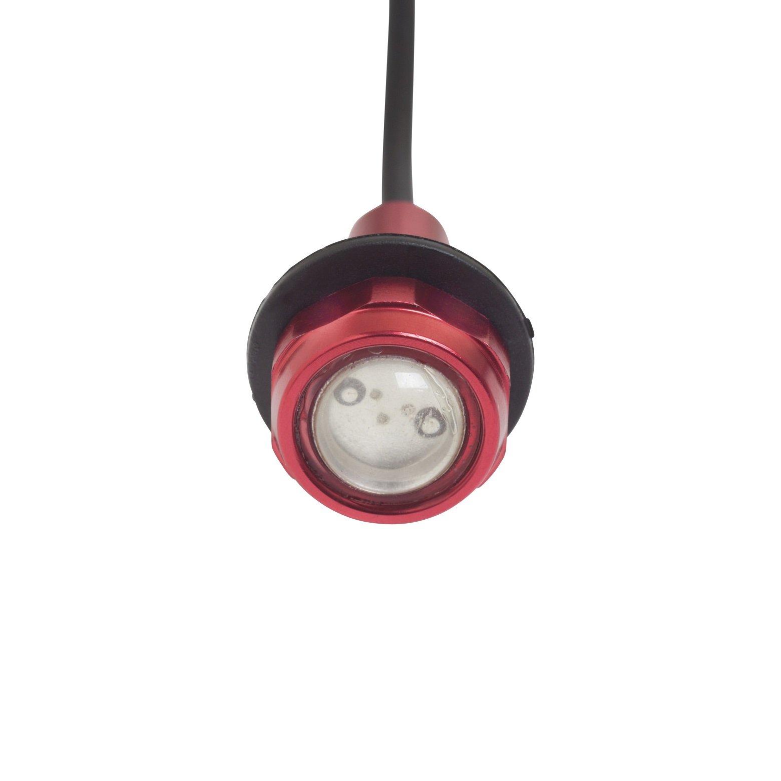 Yak-Power Super Bright LED Button Light Kit Red (2pcs) by Yak-Power (Image #1)
