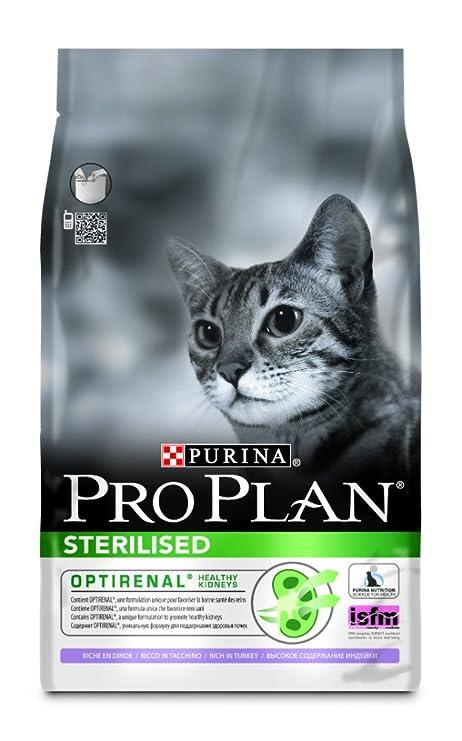 PURINA Pro Plan Comida Seco para Gato Esterilizado con Optirenal, Sabor Pavo - 3 Kg
