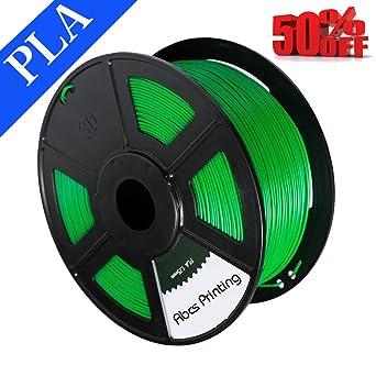 Abcs Printing de verde filamento PLA 1.75 mm 3d filamento PLA ...