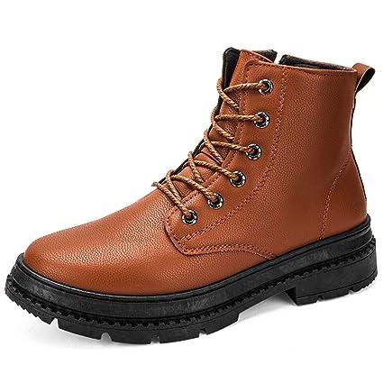 Xiazhi-shoes , Moda para Hombre Cremallera Lateral con Cordones Color sólido Zapatos Formales de