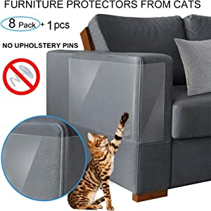 Binary Barn Cat Scratch Deterrent Shields,Furniture Protector&Couch Guards from Cats,Pet Furniture Protectors, The Best and Most Trusted Way to Training Your Pet and Protecting Your Furniture