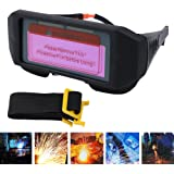 Alftek - Máscara de soldadura para oscurecimiento automático, resistente al calor, gafas de soldar