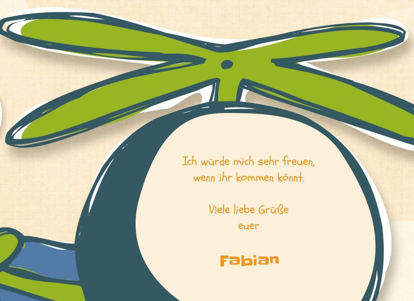 Einladungskarte Einladungskarte Einladungskarte Hubschrauber, 10 Karten, PastellHellOrange B07L1DCFQ7 | Sehr gute Farbe  | Bekannt für seine hervorragende Qualität  | Spielen Sie das Beste  34cfa8