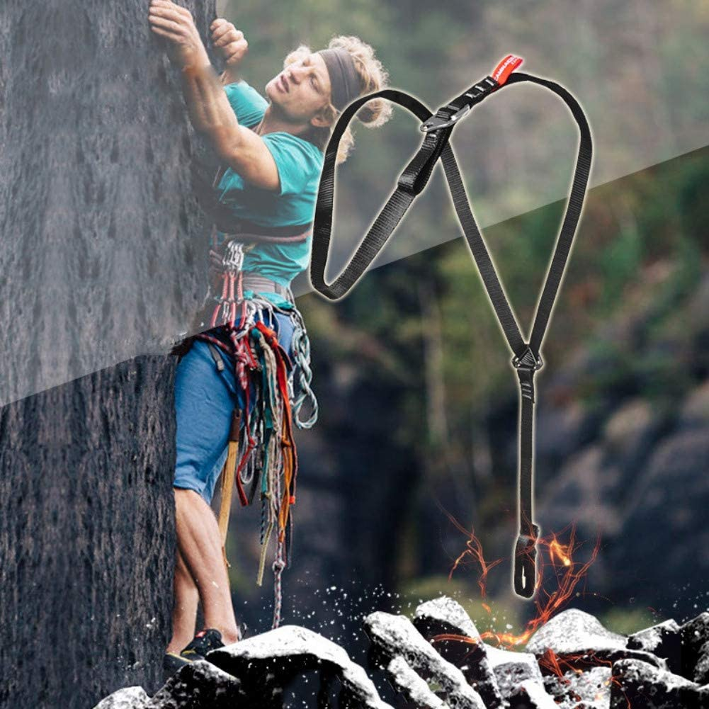 Sangle de Poitrine grimpante Sangle d/épaule Fixe de Riser Leezo Ceinture de Soutien de s/écurit/é de Harnais de Coffre de Corps de pour lalpinisme descalade en Plein air de Travail descalade
