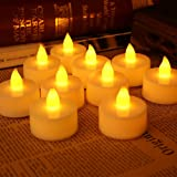 CHRONOS LED Tealight Candle | 2032 Battery Operated | Ultra Bright Yellow LED - Pack of 10