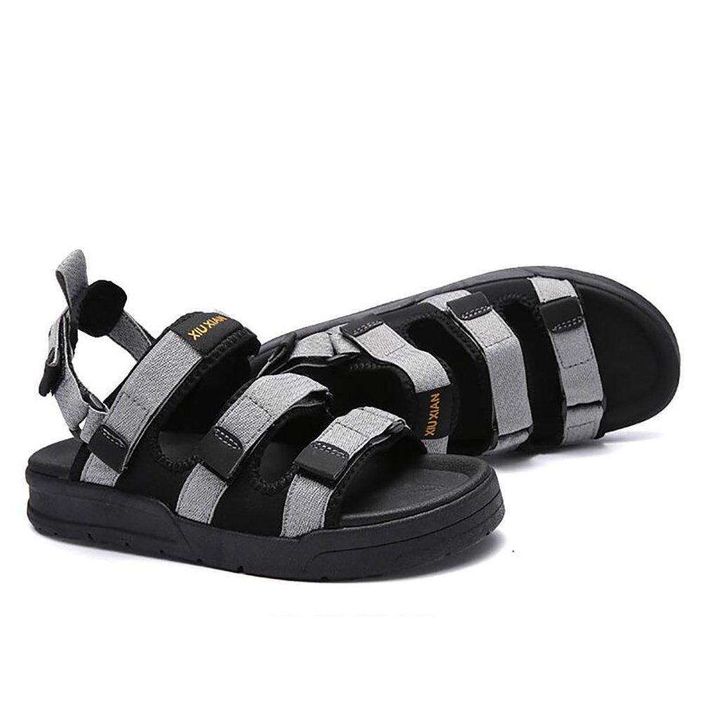 ZJM- Zapatos de playa con cordones y zapatillas de playa con cordones Zapatos abiertos con diseño antideslizante suave para hombre/mujeres vintage (tamaño 35-45) (Color : Gris, Tamaño : 40) 40|Gris