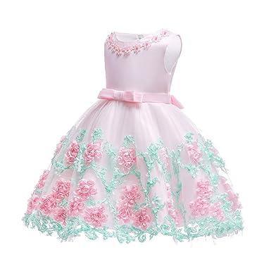 XFentech Recién Nacido Vestido de Fiesta de Princesa - Encaje Sin ...