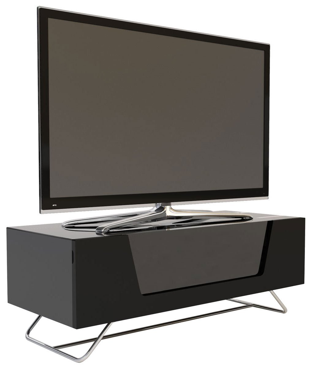 Alphason Chromium Black Tv Stand For Up To 50 Inch Tvs Amazon Co  # Table Tv Lcd En Palette