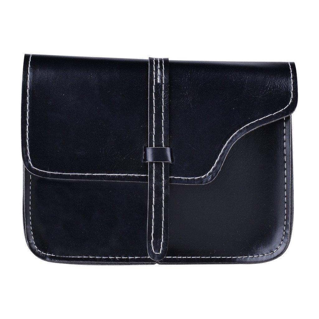 QZUnique Women's Soft PU Leather Fashion Vintage Style Cross Body Shoulder Bag Black by QZUnique (Image #5)