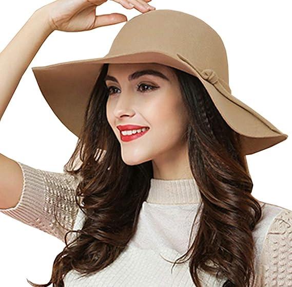USA Women Ladies Fedoras Beach Sun Hats Floppy Wide Large Brim Cloche Bowler