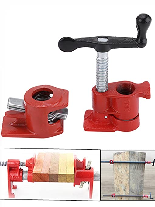 Wood Glue Clamps 2 Pairs Diy Woodworking Clamp 3 4 Pipe Clamp 2