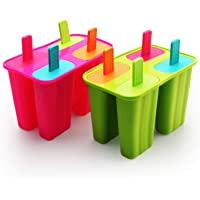 Ice Cream Moulds, Silicone Popsicle Molds Ice Pop Molds Maker BPA Free - Set of 8 - Food Grade Ice Cream Moulds Ice Pops…