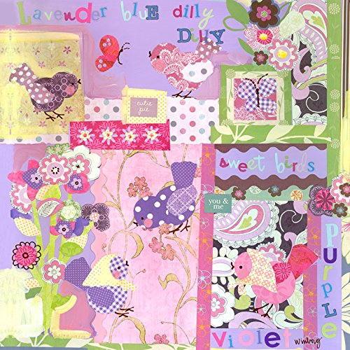 Oopsy Daisy Canvas Wall Art Lavender Blue Dilly Dilly by Winborg Sisters, 21 by (Oopsy Daisy Collage)