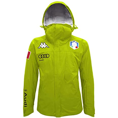 Kappa - 6Cento 650A Fisi - Giacca Sci Uomo - Green Lime-Silver ... d3d0fd96352a