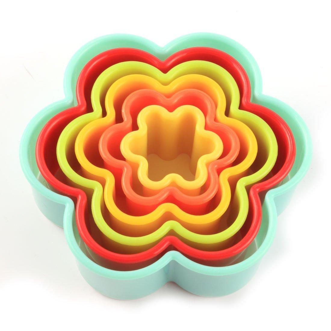 Amazon.com: DealMux Plastic Casa Cozinha Bakeware flor em forma Muffin Bolo Cupcake Moldes 6 em 1: Kitchen & Dining