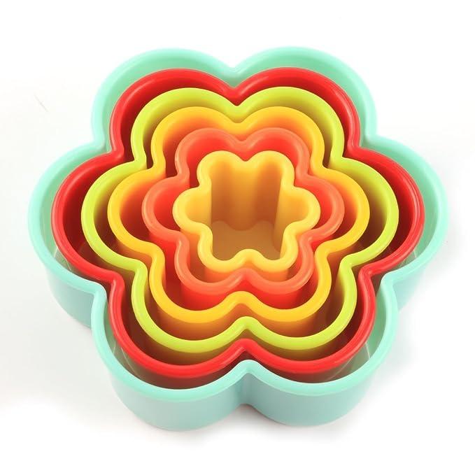 Amazon.com: eDealMax plástico Domésticos de Cocina Utensilios para hornear en forma de flor del mollete de la torta de la magdalena Moldes 6 en 1: Kitchen & ...