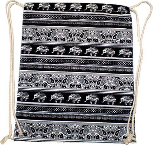 Borsa zaino uomo donna marinaio Hipster Nero Turn Borsa Borsa di tela borsa sacchetto di stoffa per bambini di ginnastica tasche–palesti. Elefante 4731