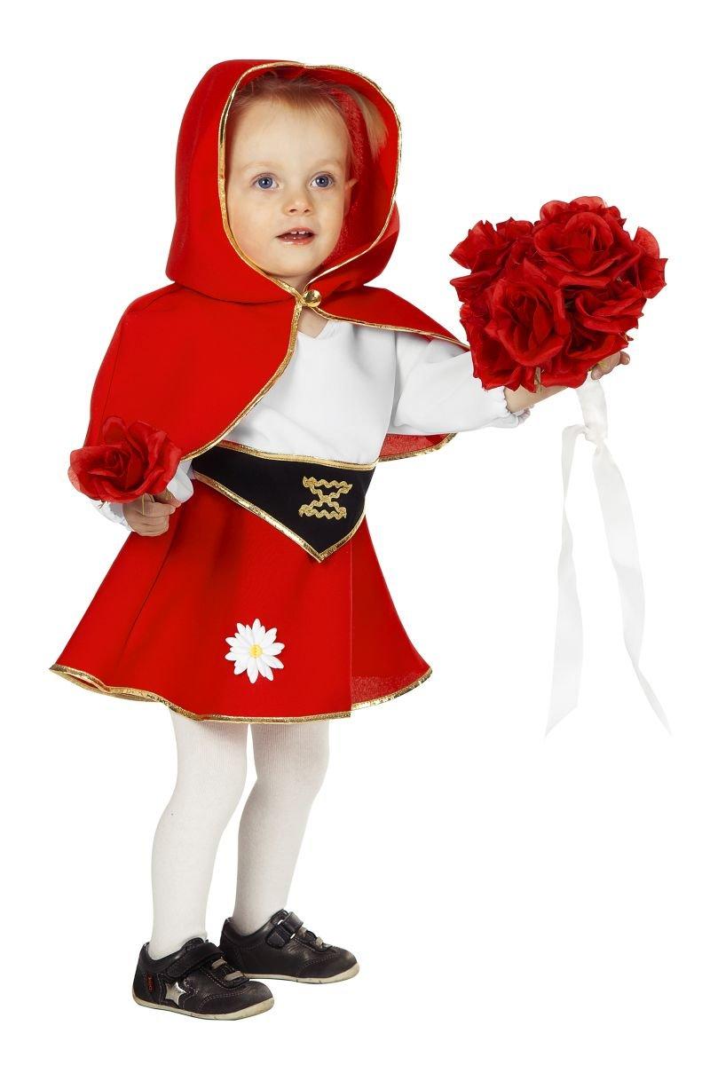 Rotk/äppchen Kost/üm Babykost/üme M/ädchen Karneval Fasching Rot Wei/ß Schwarz Rot//Wei/ß//Schwarz 74