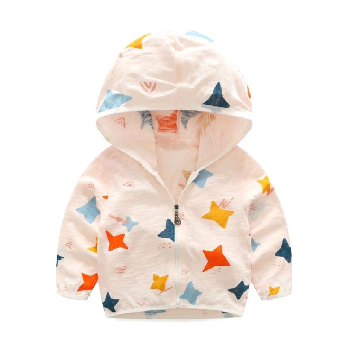 Zago Baby Boys Girls Zip up Sun Protection Lightweight Cozy Hoodies