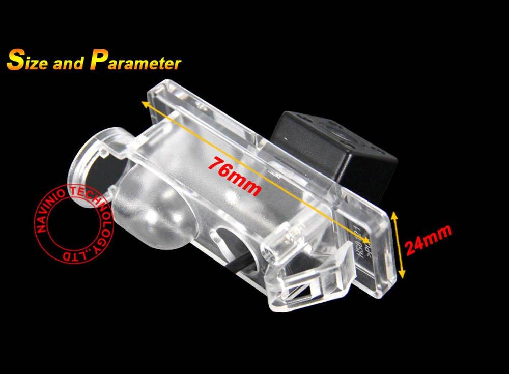 NTSC Nero per Viano 2004-2012 Vito 2004-2012 Sprinter 2004-onwards,W639 Dynavision Telecamere posteriori in luce targa