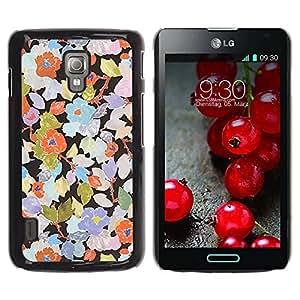 Paccase / SLIM PC / Aliminium Casa Carcasa Funda Case Cover para - Rustic Wallpaper Floral Art - LG Optimus L7 II P710 / L7X P714