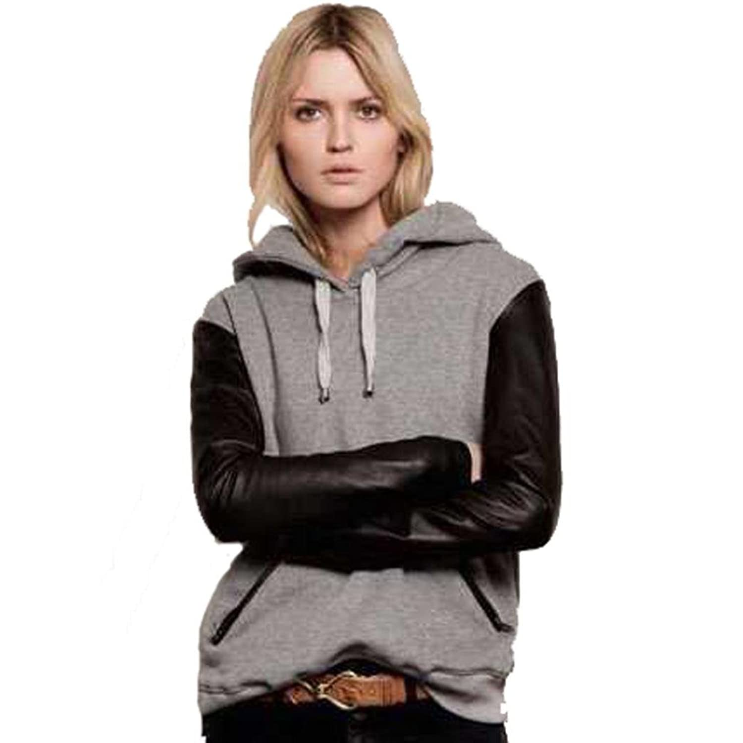 Women Round Collar Sweatshirt DZT1968@ Fleece Coat Hooded Pullover
