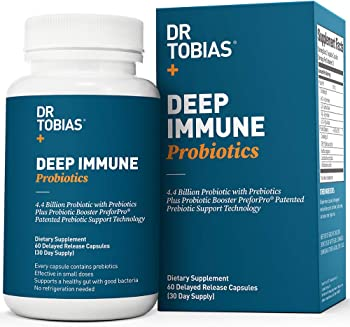 60-Count Dr Tobias Deep Immune Probiotic Plus Prebiotic Capsules