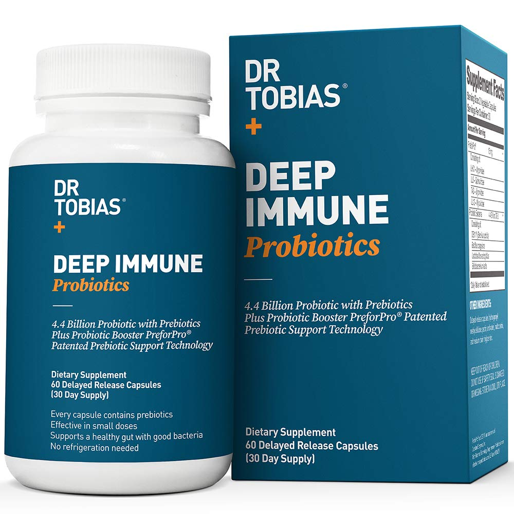 Dr Tobias Deep Immune Probiotic - Plus Ultimate Prebiotic (Patented) - Shelf Stable by Dr. Tobias