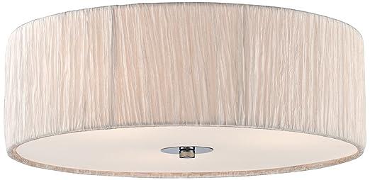 Possini euro sheer 16 wide ivory white fabric ceiling light possini euro sheer 16quot wide ivory white fabric ceiling light aloadofball Choice Image