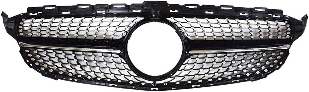 Front Diamond Grille Fit For Mercedes W205 C180 C200 C250 C300 2015-2020