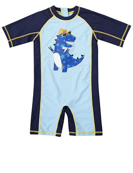 f7a43f79debc1 Boys Rashguard 3t Swimsuit Toddler Boys Sun Protection Swimwear Navy Shark