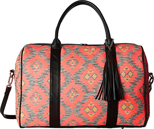 deux-lux-womens-canyon-fabric-weekender-with-tassel-coral-luggage