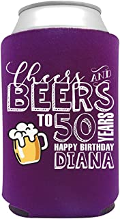 product image for Personalized Can Cooler Custom Can Coolies – Birthday Can Coolies - Fits 12-Ounce Cans and Bottles – Keeps Drinks Cold for Longer – Ideal for Travelling, Party Favors Cheers & Beers 4 24 pack