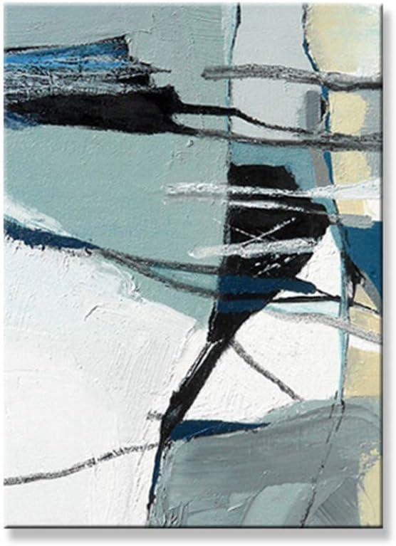 dubdubd Estilo Abstracto Color Claro Pintura al óleo sobre Lienzo Arte de la Pared póster para Sala de Estar DormitorioImprimir en Lienzo -60x80cm Sin Marco