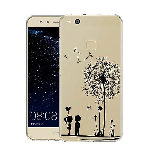 27 opinioni per Huawei P10 Lite Cover , YIGA Moda Dandelion Amare Trasparente Silicone Morbido