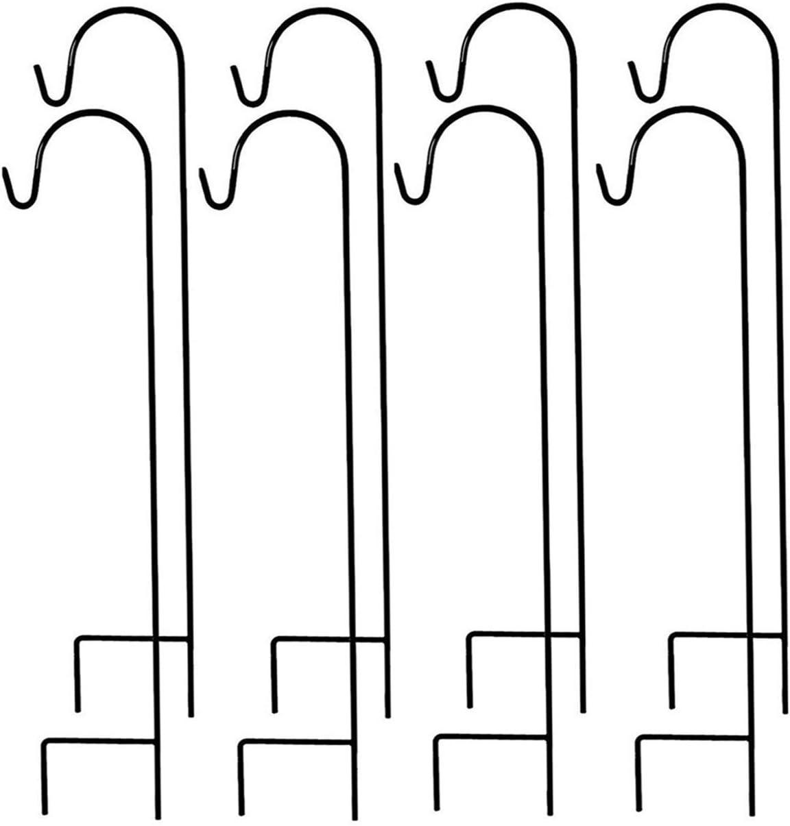 MTB Shepherds Hook 35 Inch by 9.5 Inch, Black, Pack of 8,Strong Rust Resistant Steel for Hanging Planter, Bird Feeders, Lanterns, Solar Lights, Mason Jars,Hummingbird Feeder