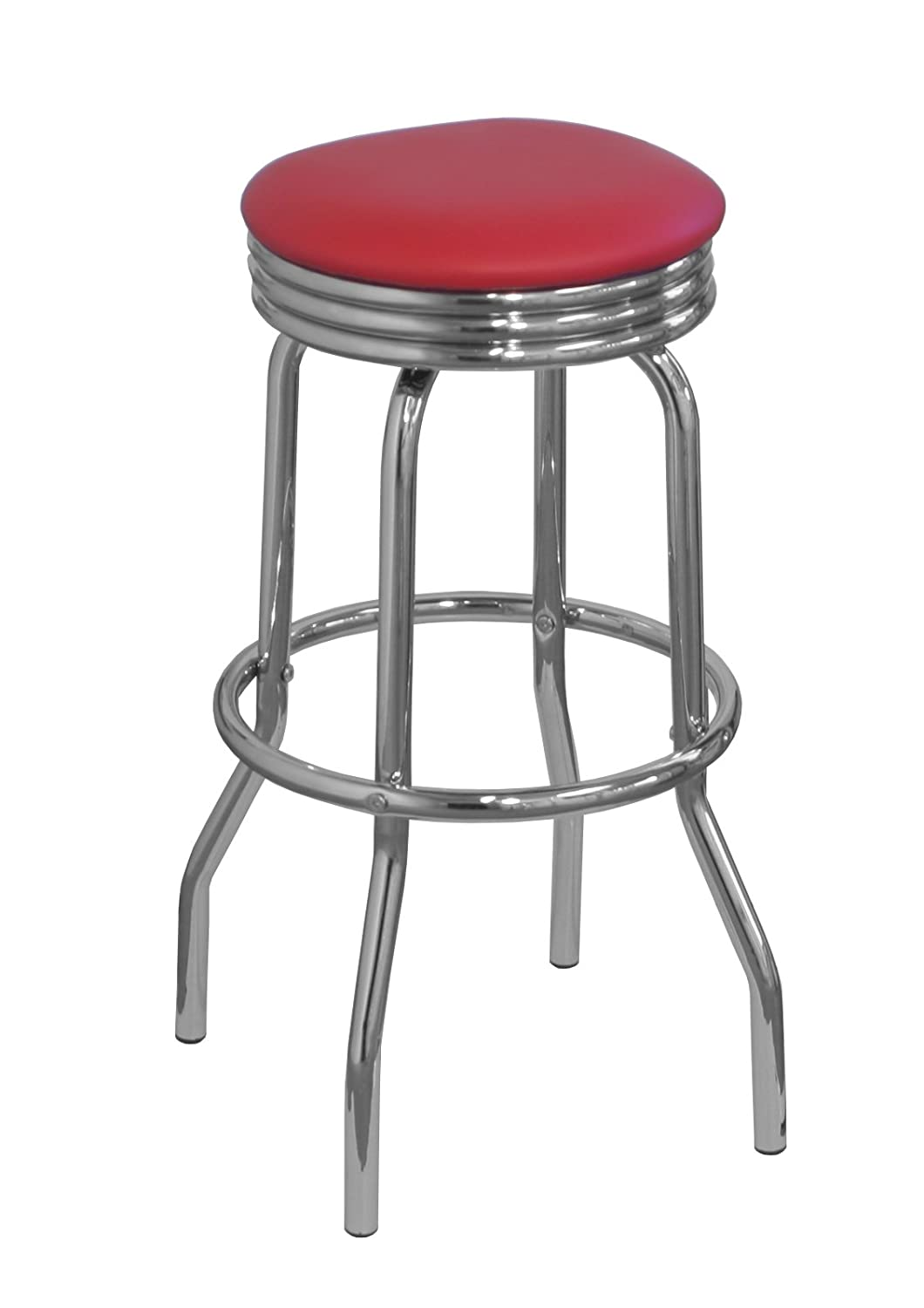 American Diner Style Bar Stool Red: Amazon.co.uk: Kitchen & Home