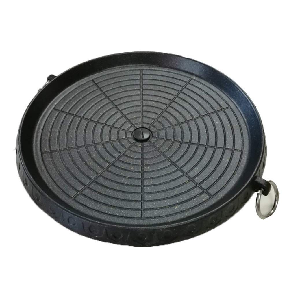 Korean Maifan Stone Barbecue Pan Non-stick Smokeless Indoor Grill Stovetop Plate by CHYIR