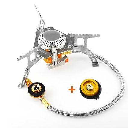 ANTPO - Estufa de Gas para Acampada, Plegable, 3500 W con práctico Encendido de