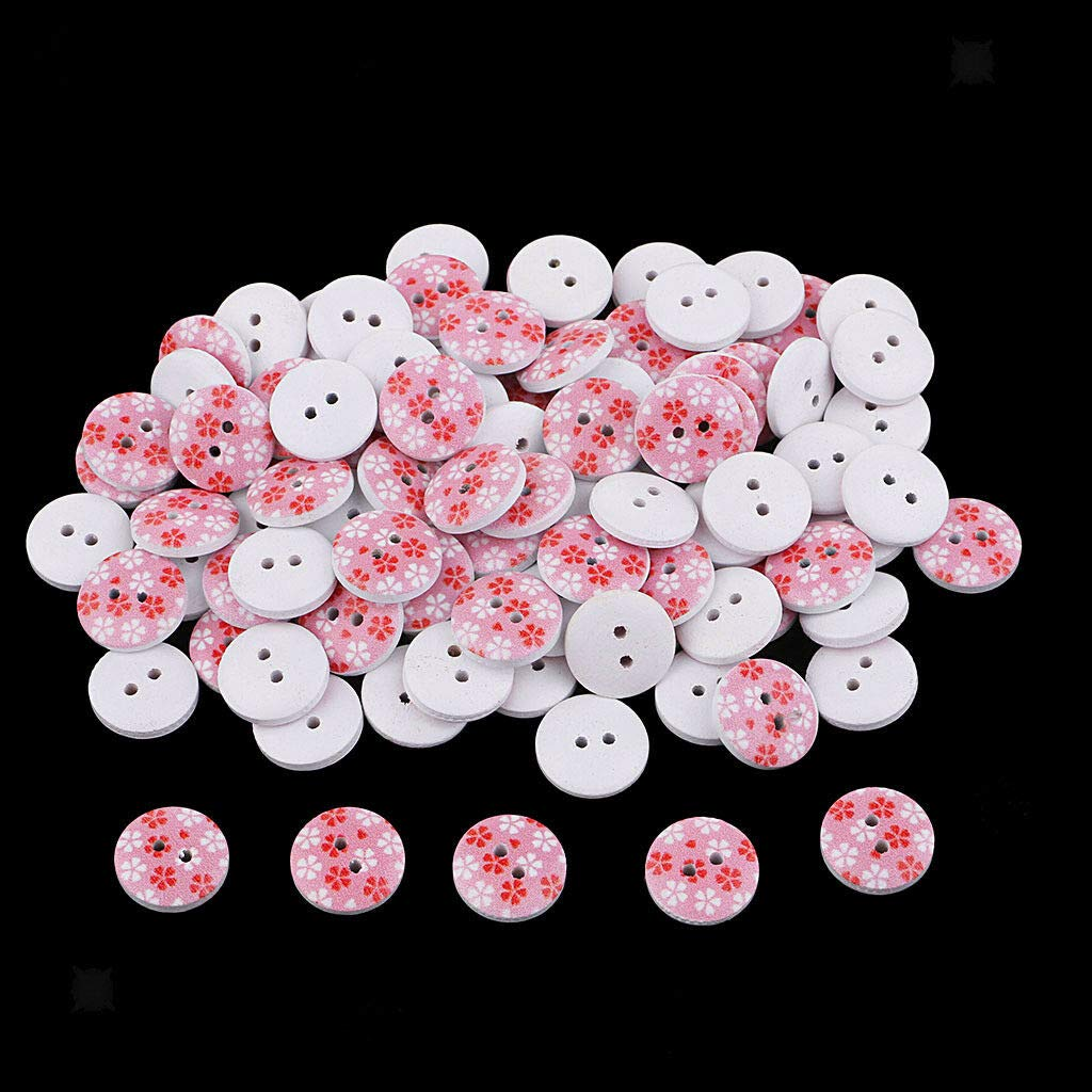 100x White Snowflake DIY Wooden Buttons for XMAS Decor Scrapbooking Crafts Nice
