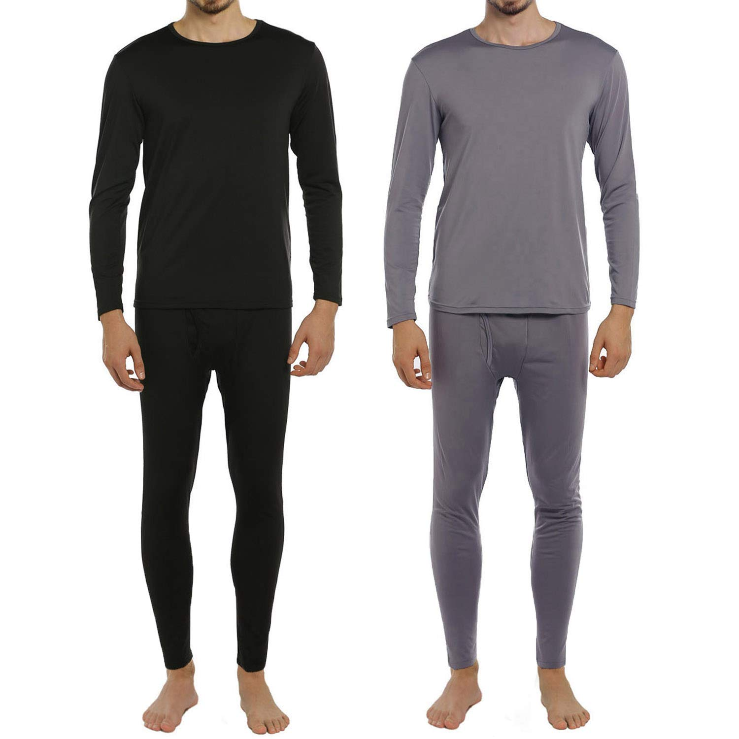 ViCherub Men's Thermal Underwear Set Fleece Lined Long Johns Winter Base Layer Top & Bottom 1 or 2 Sets for Men by ViCherub