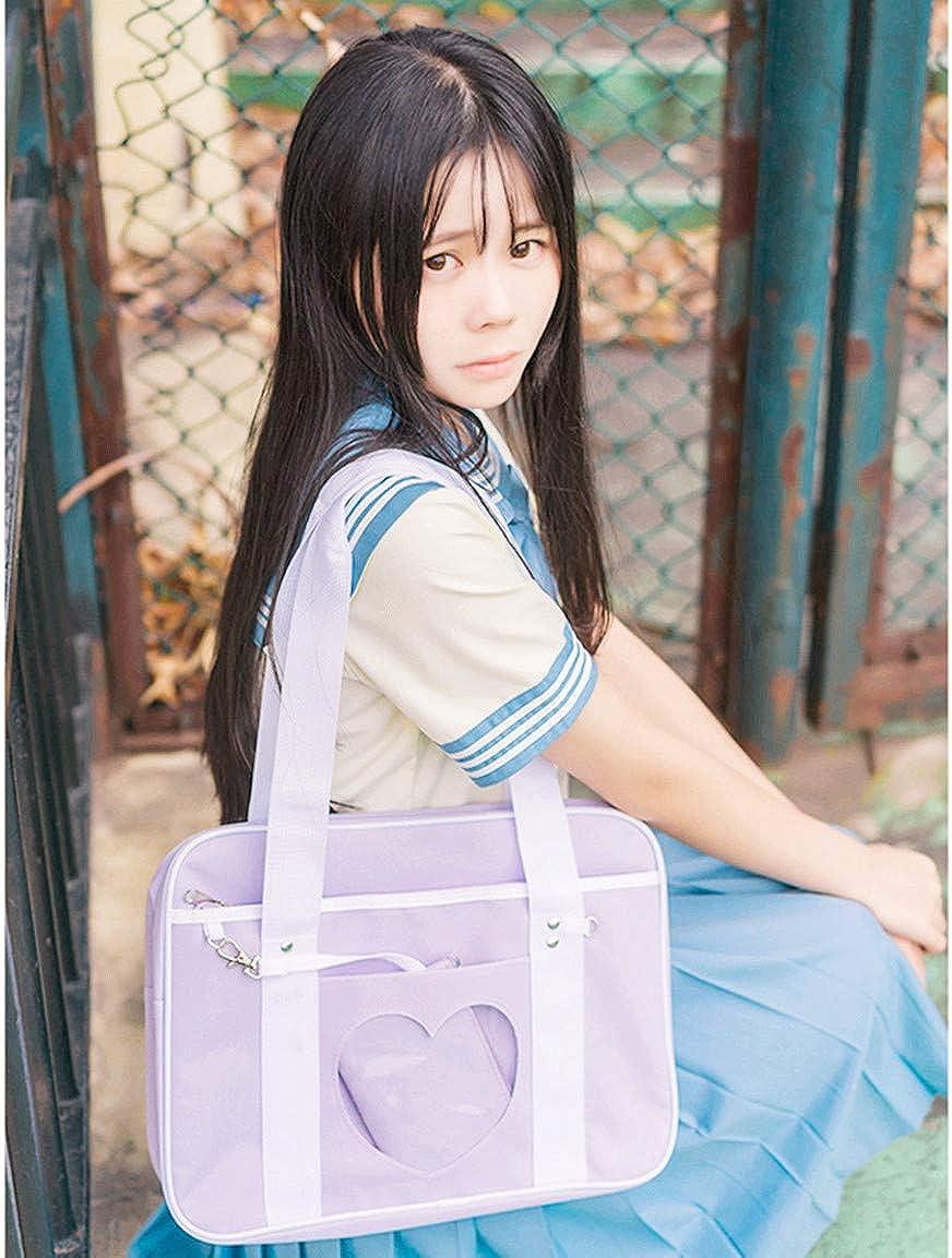 Ita Sac Coeur Forme Fenêtre École Japonaise Sac À Main Grand JK Sac Filles Duffle Bourse Anime Cartables Pour Lolita Comique DIY Cosplay Violet