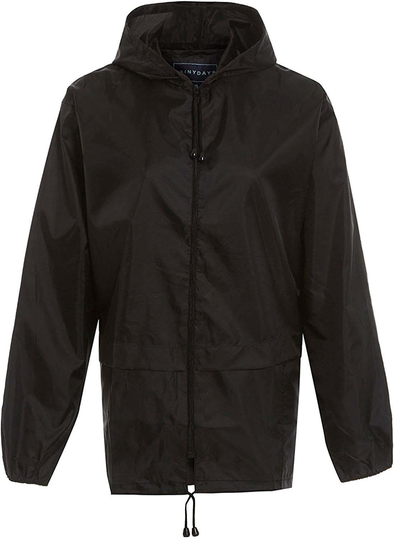 RainyDays Mens Womens Adults Kagool Cagoule Shower Proof Hooded RAIN Coat S M L XL XXL