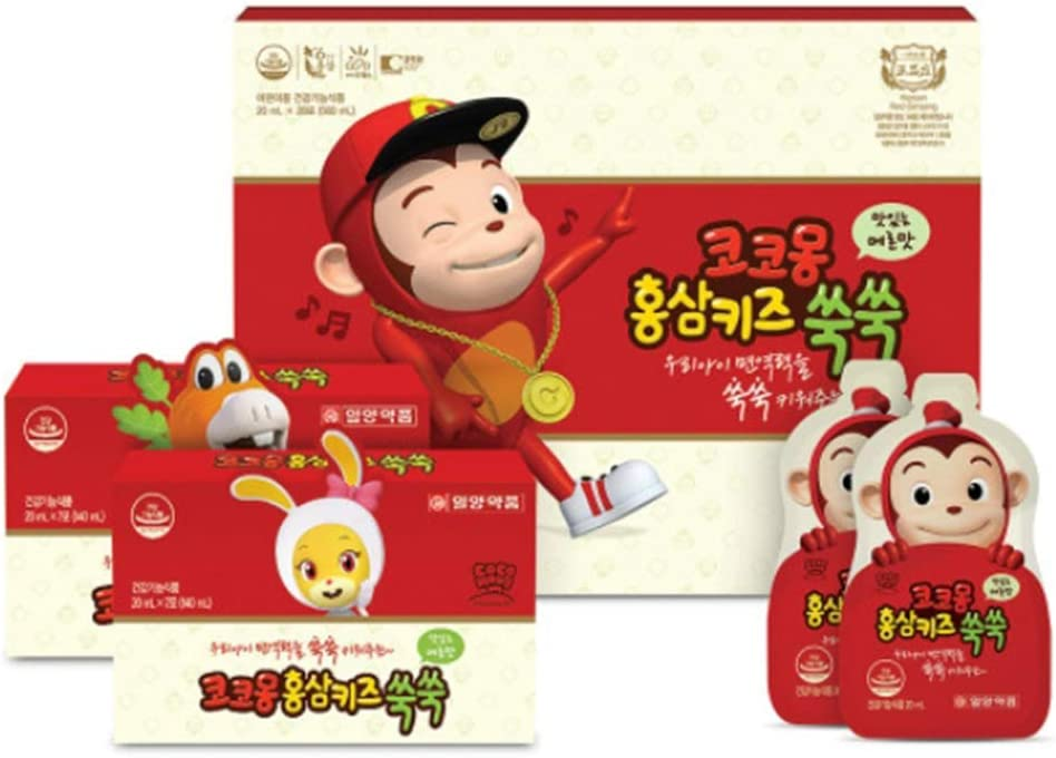 Cocomong Red Ginseng Extract 20ml*28pcs for Kids