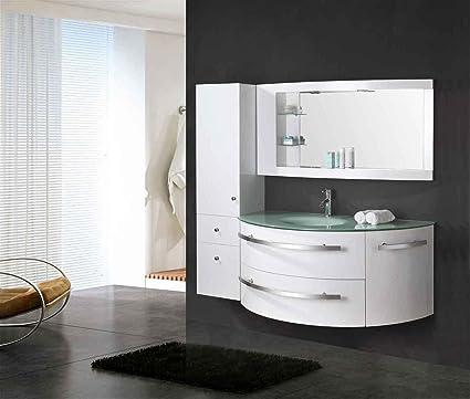 Muebles Para Baño para Cuarto de Baño Baño 120 cm grifos incl.! Mod. Ambassador Mueble + espejos + repisas + grifería + fregaderos!: Amazon.es: Bricolaje y herramientas