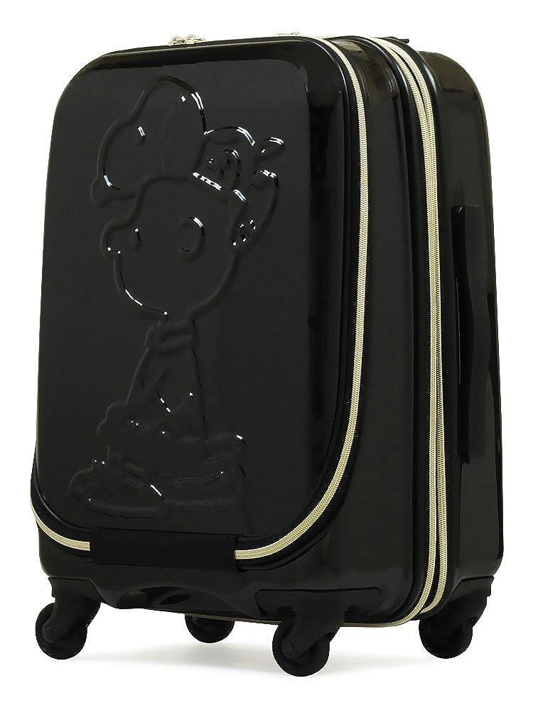 [ピーナッツ] スヌーピー スーツケース PN-008 48cm B07CW98XLS ブラック