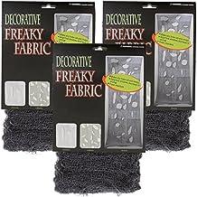 Halloween Haunters Black Freaky Loose Weave Creepy Cloth Fabric (3 pack)