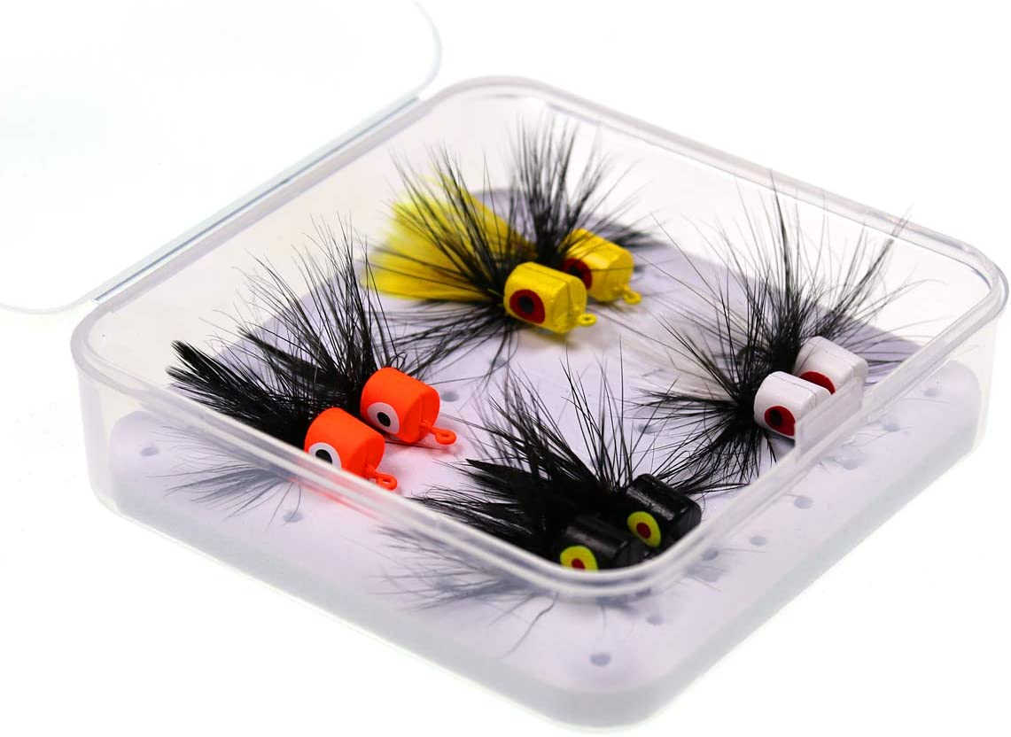 4 Handmade Trout Lures Scud Flies Bead Head Rainbow Scud Colorado Trout Flies Euro Nymph Colorado Fly Fishing Flies. Barbless