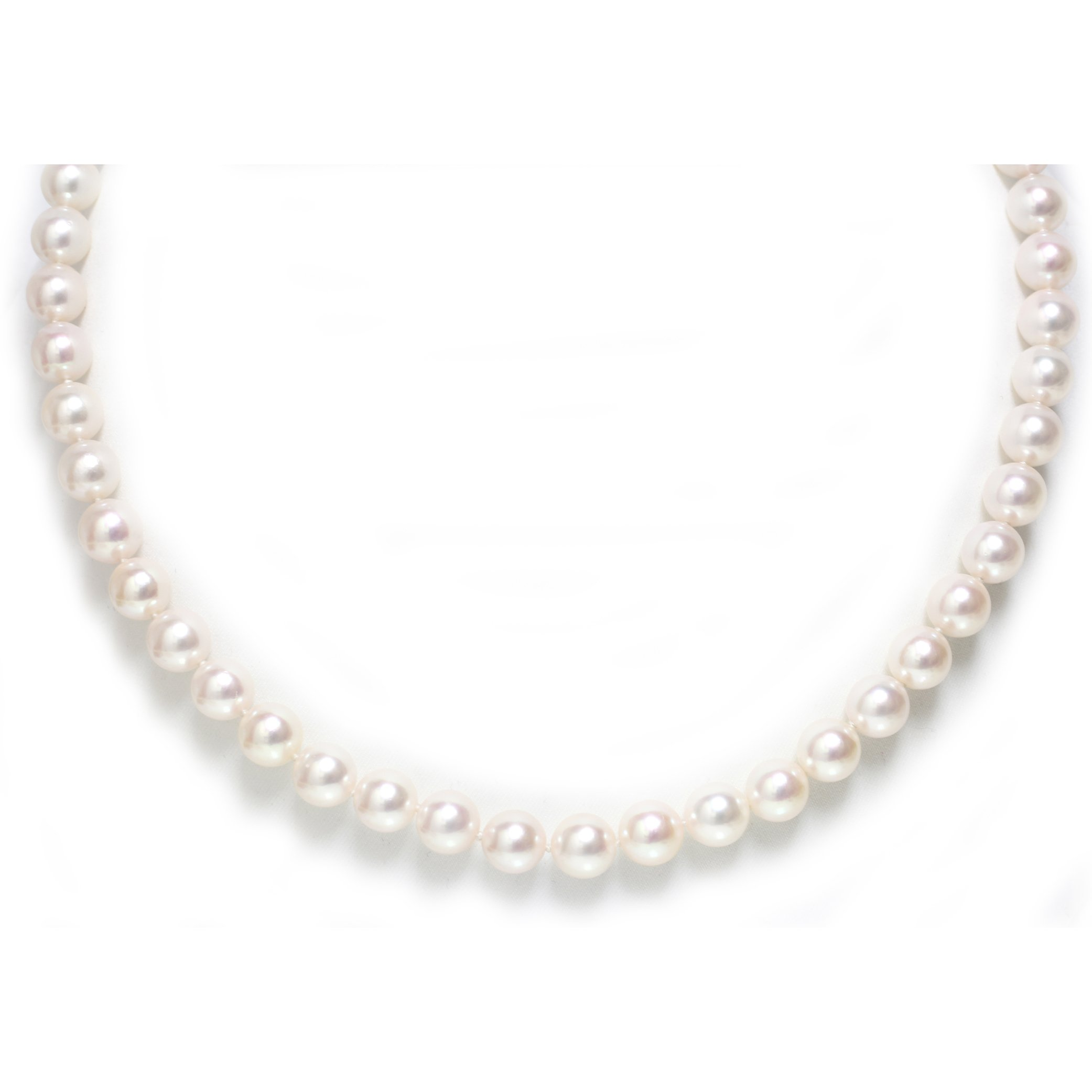 14k Gold Akoya Cultured Pearl Necklace 7 - 6.5 MM AAA Quality 18'' Princess Length
