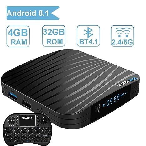 2017 modelo t95z Plus Android 6.0 Smart TV Caja con Mini teclado inalámbrico qwerty, ...